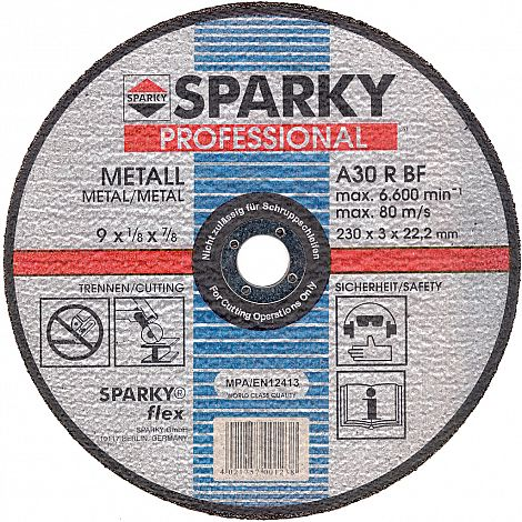 Cutting disc metal, depressed centre