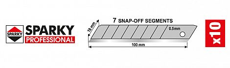 Snap-off blades set